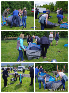 from our Family Fun weekend how to or not erect a tent!