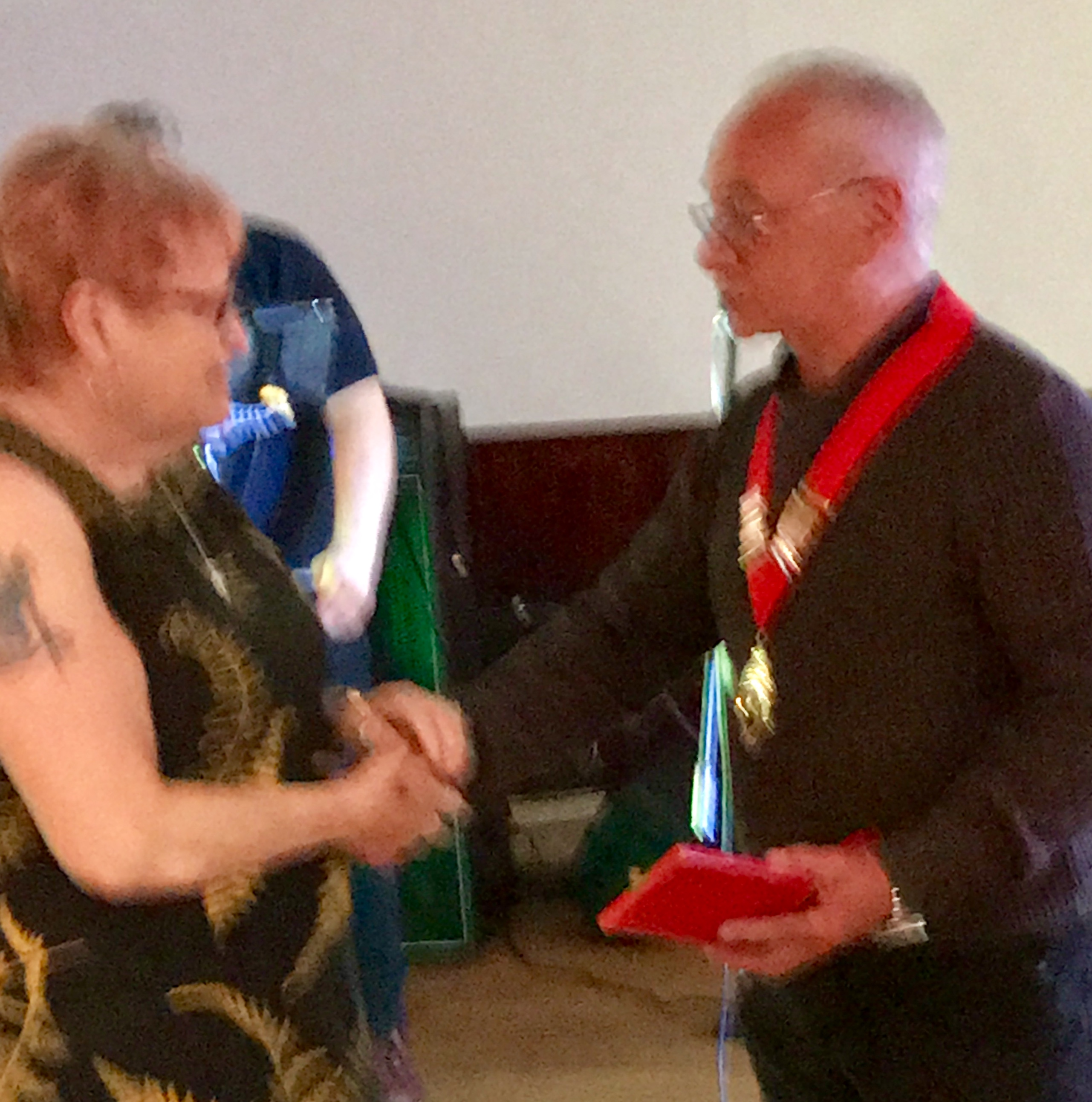 John Cox Receiving his chain of office